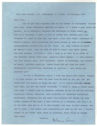 Letter from Katherine Anne Porter to William Humphrey, February 23, 1966