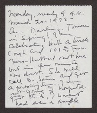 Letter from Katherine Anne Porter to Ann Holloway Heintze, March 20, 1972
