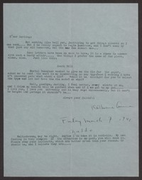 Letter from Katherine Anne Porter to Albert Erskine, March 07, 1941