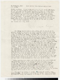 Letter from Katherine Anne Porter to Gay Porter Holloway, February 11, 1955