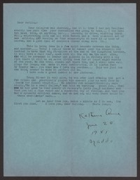 Letter from Katherine Anne Porter to Albert Erskine, June 24, 1941