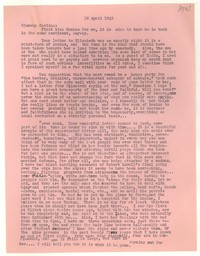 Letter from Katherine Anne Porter to Glenway Wescott, April 28, 1949