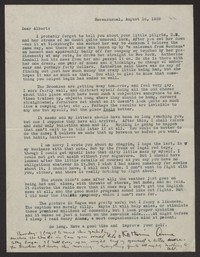 Letter from Katherine Anne Porter to Albert Erskine, August 16, 1939