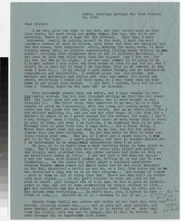 Letter from Katherine Anne Porter to Gay Porter Holloway, January 10, 1942