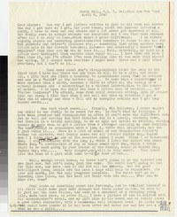 Letter from Katherine Anne Porter to Gay Porter Holloway, April 08, 1943