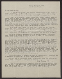 Letter from Katherine Anne Porter to Albert Erskine, April 10, 1938