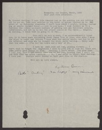 Letter from Katherine Anne Porter to Albert Erskine, March 02, 1938