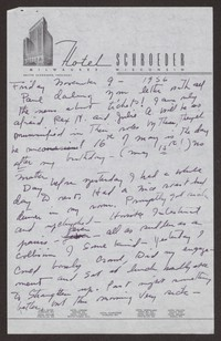 Letter from Katherine Anne Porter to Paul Porter Jr., November 09, 1956