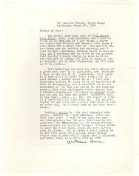 Letter from Katherine Anne Porter to George Platt Lynes, March 27, 1939