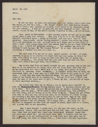 Letter from Katherine Anne Porter to Harrison B Porter, March 22, 1933