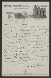 Letter from Katherine Anne Porter to Albert Erskine, April 24, 1939