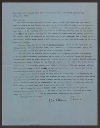 Letter from Katherine Anne Porter to Gay Porter Holloway, July 29, 1958