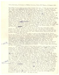 Letter from Katherine Anne Porter to Mary Louis Doherty, August 30, 1963