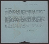 Letter from Katherine Anne Porter to Albert Erskine, May 05, 1941
