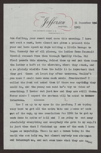 Letter from Katherine Anne Porter to Ann Holloway Heintze, December 31, 1963