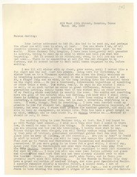 Letter from Katherine Anne Porter to Monroe Wheeler, March 22, 1938