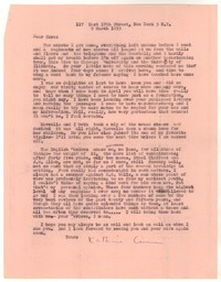Letter from Katherine Anne Porter to Ezra Pound, March 09, 1953