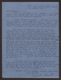 Letter from Katherine Anne Porter to Ann Holloway Heintze, January 19, 1946