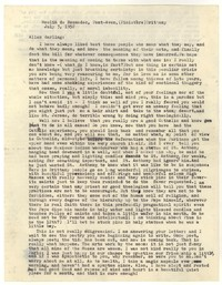 Letter from Katherine Anne Porter to Allen Tate, July 03, 1952