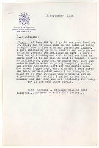 Letter from Katherine Anne Porter to Caroline Gordon, September 13, 1948