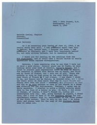 Letter from Katherine Anne Porter to Malcolm Cowley, March 03, 1965