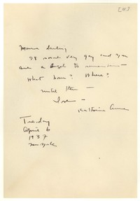 Letter from Katherine Anne Porter to Monroe Wheeler, April 06, 1937