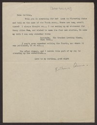 Letter from Katherine Anne Porter to Eugene Pressly, before March 13, 1931
