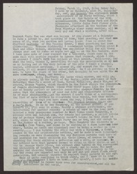 Letter from Katherine Anne Porter to Paul Porter Jr., March 11, 1949