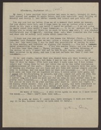 Letter from Katherine Anne Porter to Eugene Pressly, September 23, 1937