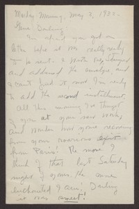 Letter from Katherine Anne Porter to Eugene Pressly, May 02, 1932
