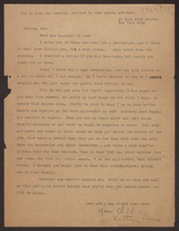 Letter from Katherine Anne Porter to Harrison B Porter, circa 1927-1928