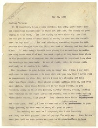 Letter from Katherine Anne Porter to Barbara Harrison Wescott, May 31, 1935