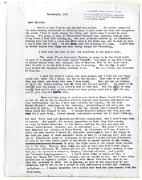 Letter from Katherine Anne Porter to Malcolm Cowley, February 25, 1931
