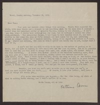 Letter from Katherine Anne Porter to Eugene Pressly, November 21, 1932