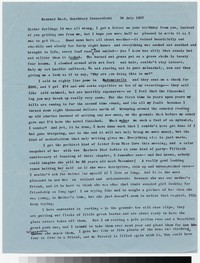 Letter from Katherine Anne Porter to Gay Porter Holloway, July 30, 1957