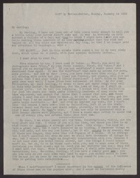 Letter from Katherine Anne Porter to Albert Erskine, January 24, 1938