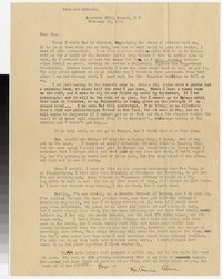 Letter from Katherine Anne Porter to Gay Porter Holloway, February 25, 1931
