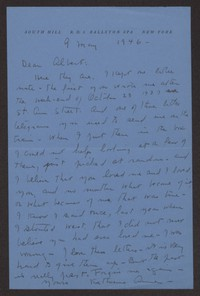Letter from Katherine Anne Porter to Albert Erskine, May 09, 1946