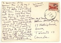 Letter from Katherine Anne Porter to Isabel Bayley and W. Hewitt Bayley, December 05, 1956