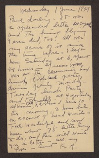 Letter from Katherine Anne Porter to Paul Porter Jr., June 01, 1949