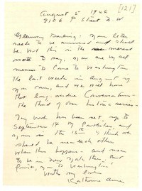 Letter from Katherine Anne Porter to Glenway Wescott, August 05, 1944