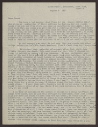 Letter from Katherine Anne Porter to Eugene Pressly, August 08, 1937