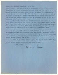 Letter from Katherine Anne Porter to Barbara Harrison Wescott, May 21, 1958