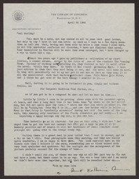 Letter from Katherine Anne Porter to Paul Porter Jr., April 22, 1944