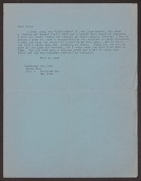 Letter from Katherine Anne Porter to Paul Porter Jr., September 20, 1942