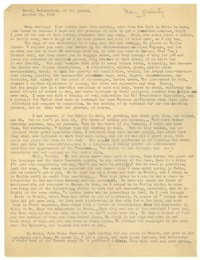 Letter from Katherine Anne Porter to Mary Louis Doherty, October 21, 1932