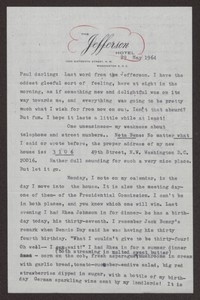 Letter from Katherine Anne Porter to Paul Porter Jr., May 29, 1964