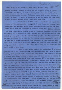 Letter from Katherine Anne Porter to Barbara Harrison Wescott, March 09, 1963