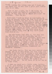 Letter from Katherine Anne Porter to Gay Porter Holloway, June 13, 1951