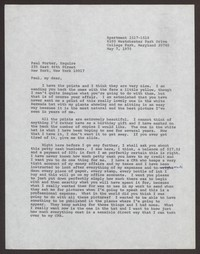 Letter from Katherine Anne Porter to Paul Porter Jr., May 07, 1975